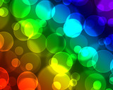 Colorful bokeh lights with rainbow speckrum