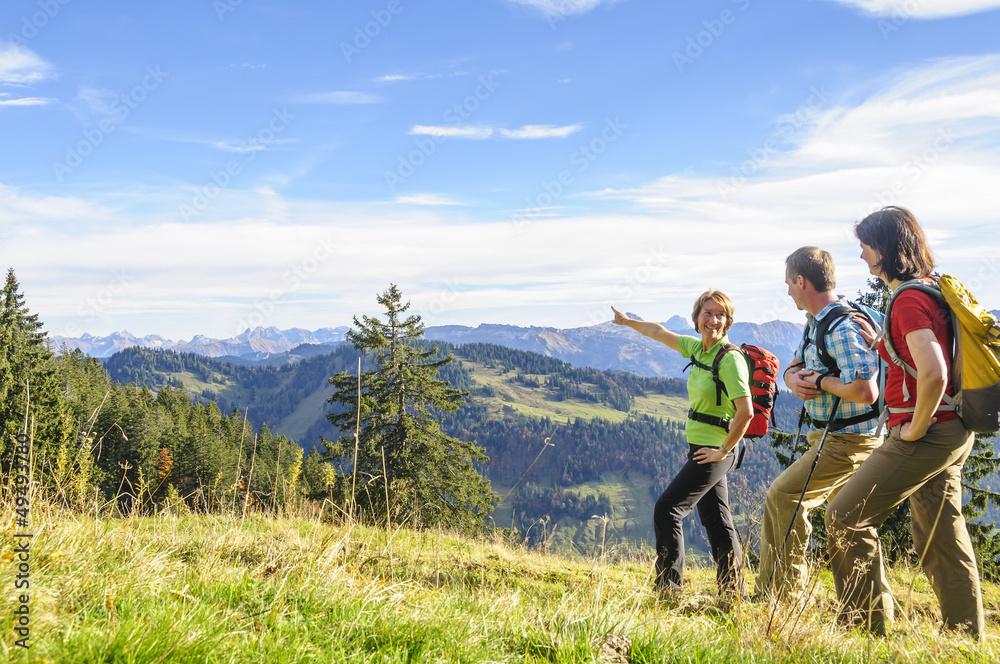 Fototapety, obrazy: Ausblick in die Allgäuer Alpen beim Wandern