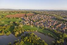 Aerial View Of SuburbanTown