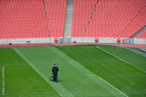 Türaufkleber Stadion Groundsman at football stadium