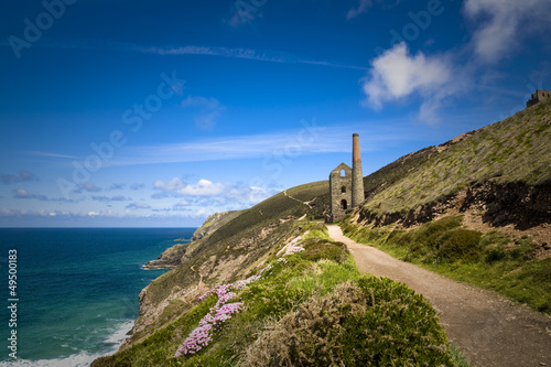 Photo  Coastal Tin Mine, Cornwall, UK