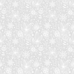 Seamless floral texture. Abstract flower background