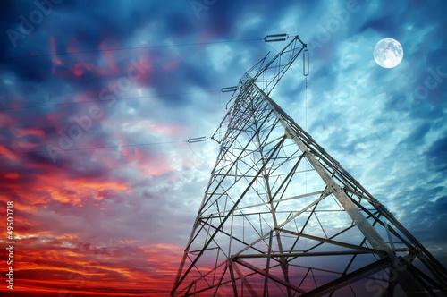 Valokuva  Transmission towers