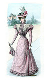 Lady in pink dress - 49503190