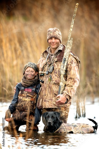 Wall Murals Hunting Father and Son Hunt