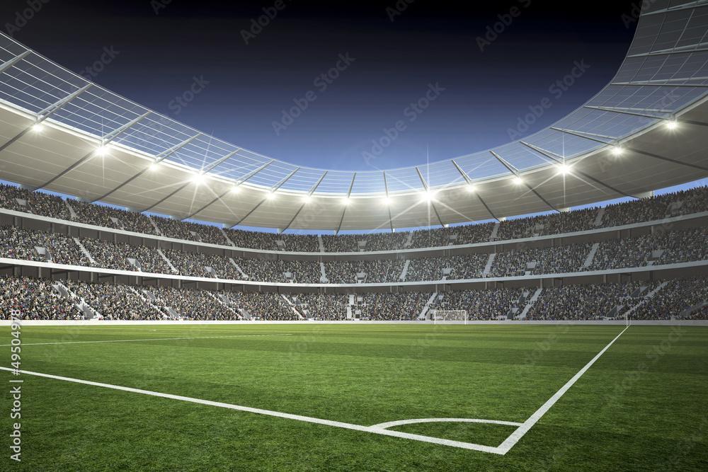 Stadion Mit Blick Von Der Ecke Foto Poster Wandbilder Bei