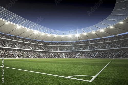 Foto-Schmutzfangmatte - Stadion mit Blick von der Ecke (von KB3)