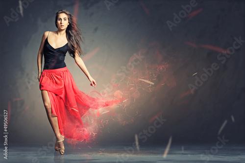 Fotografie, Obraz  Red Dance
