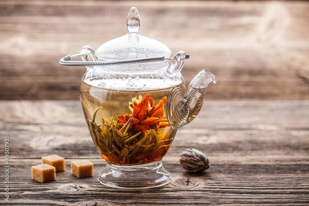 Fototapety, obrazy: Flowering tea