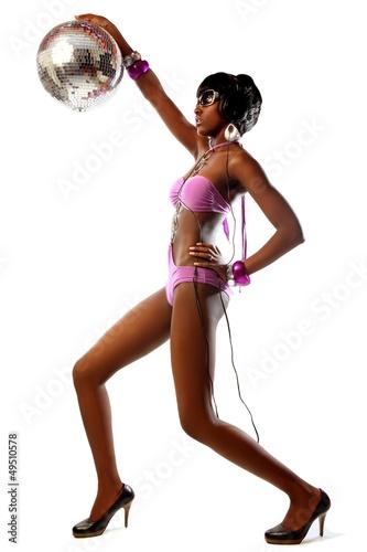 disco gogo girl in party Poster