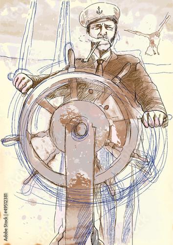 kapitan-morze-ilustracja-wyciagnac-reke-do-wektora