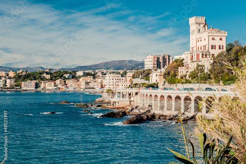 Fotografia  View of  Genoa, port city in northern Italy