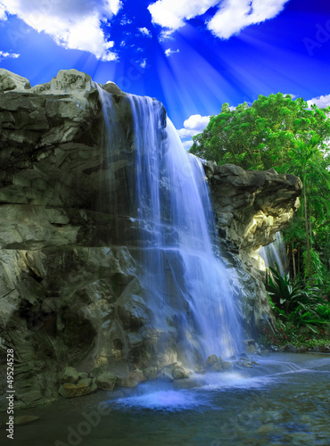 Tuinposter Watervallen Magical waterfall