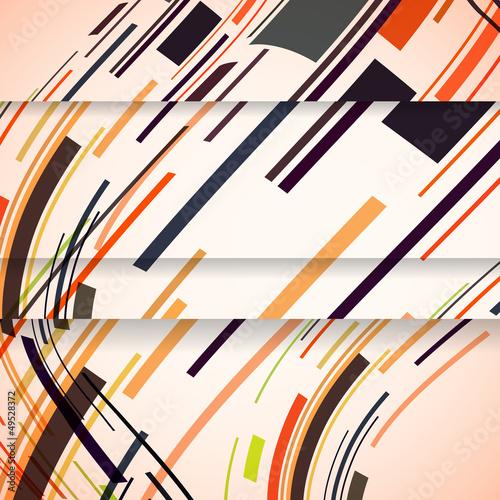 Fototapeta na wymiar Abstract banner for your design, colorful digital Illustration.