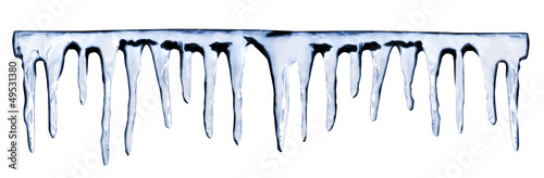 Fotomural icicles on white background