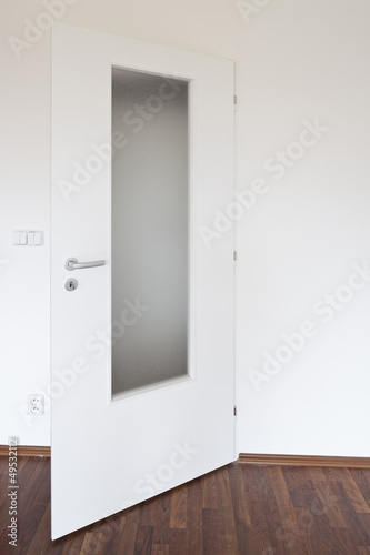 White Door With Glass Panels Buy This Stock Photo And Explore