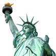 statue of liberty, new york, usa, isolated