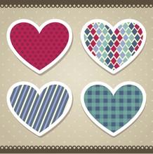 Scrapbook Hearts