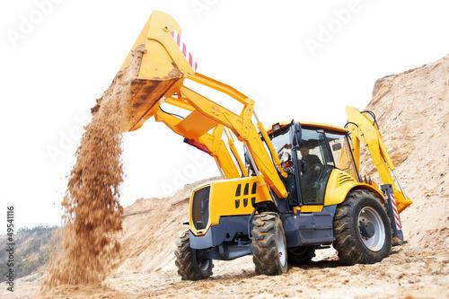 Photo Excavator Loader with backhoe works