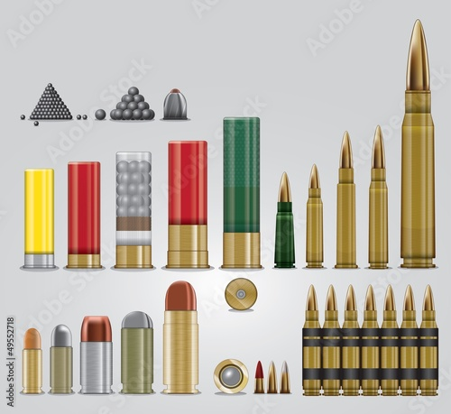 Fotografiet Full vector ammo set