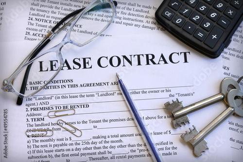Fotografía  Lease contract, close-up