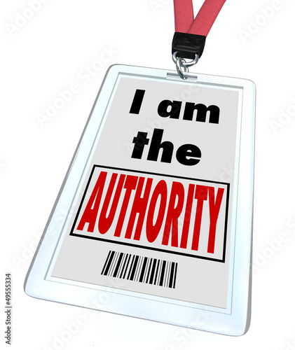 Fotografía  I am the Authority Badge Top Knowledge Expert