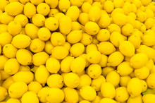 Colorful Display Of Lemons In ...