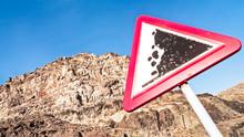 Rock Slide Sign
