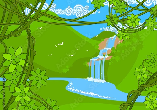 Canvas Prints River, lake Waterfall