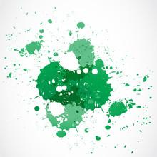 Green Paint Splash Design