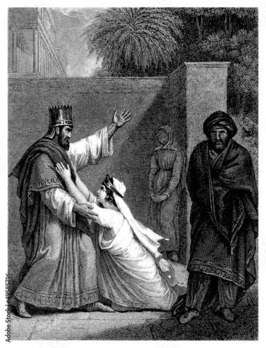 Persia Antiquity : Royal Pair Canvas Print