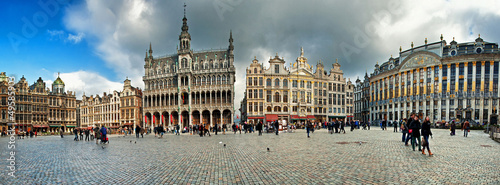 In de dag Brussel Grand Place or Grote Markt in Brussels. Belgium
