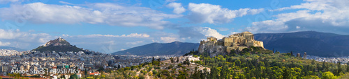 Montage in der Fensternische Athen Beautiful view of Athens, Greece