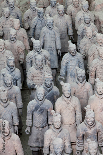 Tuinposter Xian Terracotta warriors in detail