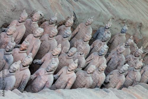 Foto op Plexiglas Xian Terracotta warriors in detail