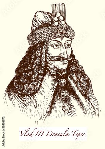 Vlad III Dracula Tepes: der historische Graf Drakula Poster