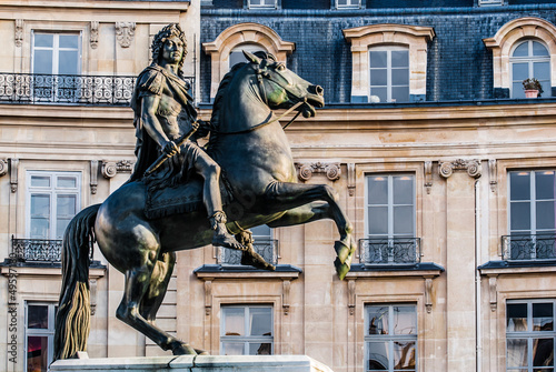 Obraz na plátně vercingetorix square statue paris city France