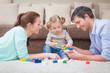Leinwandbild Motiv playing parents