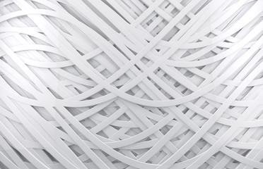 Obraz na Szkle fondo abstracto blanco 3d con lineas