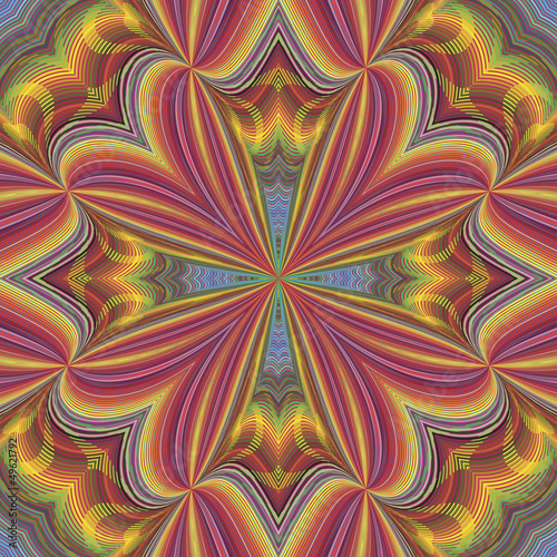 Wall Murals Psychedelic Seamless funky pop art pattern with optic illustion