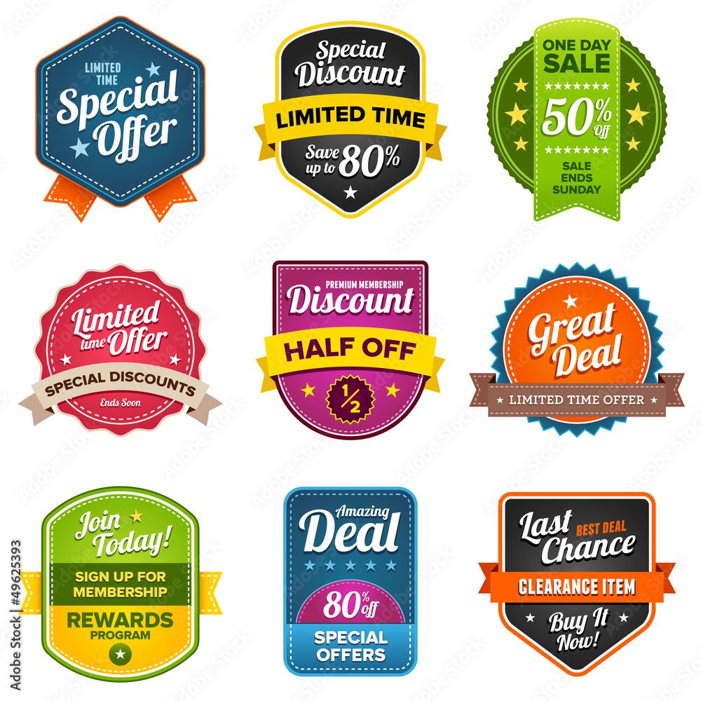 Fototapeta Sales labels