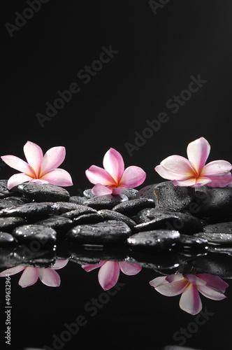 Aluminium Prints Spa Zen pebbles. Stone spa and healthcare concept.