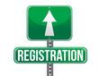 registration green traffic road sign