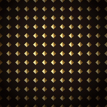 Seamless Texture With Gold Diamonds. Vector.