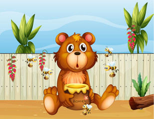 Medvjed s pet pčela