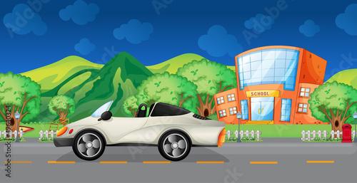 Foto op Canvas Cars An elegant sports car at the road
