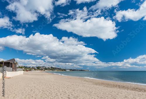 Mijas Beach, Costa Del Sol, Andalusia Spain Wallpaper Mural