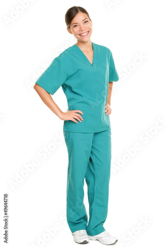 Fotografia  Medical nurse isolated in full body length