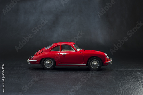 Papiers peints Rouge, noir, blanc old car 356 porsche