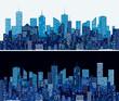 blue cityscape